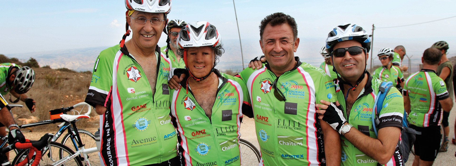Dan Liani (right) rides with others in Beit Halochem Canada's Courage in Motion ride.