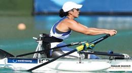 image: Moran Samuel rowing