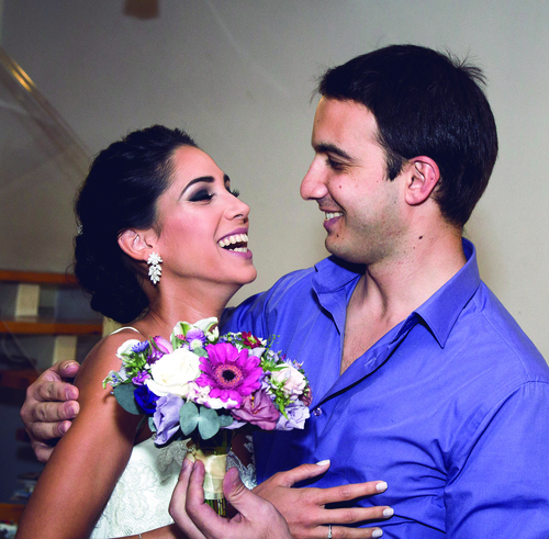Ofir and Shai Anidjar on their wedding day