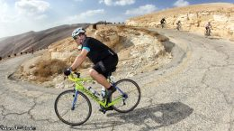 Cantor Stein rides bike on Courage in Motion