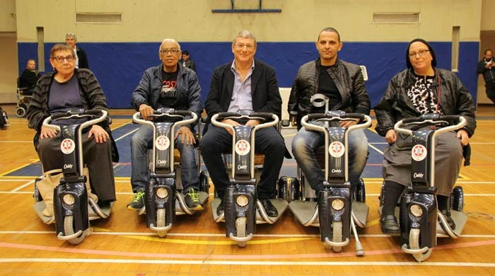 Disabled veterans receive scooters