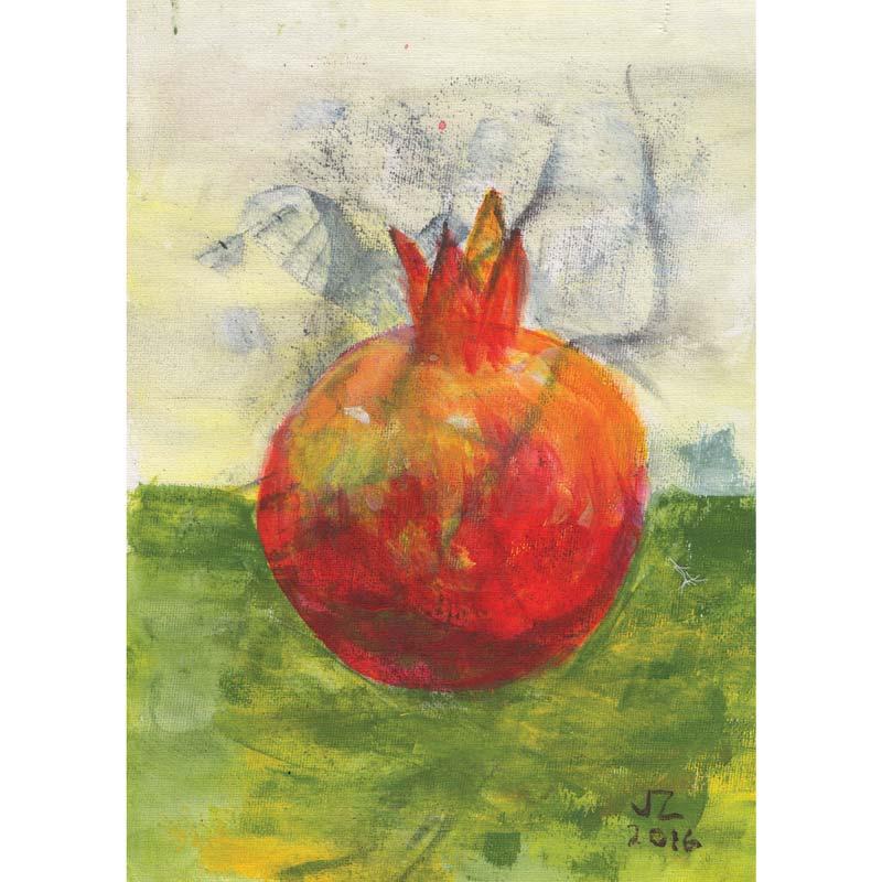 """Rosh Hashana """"Pomegranate"""" card"""